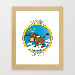 Holy Cow - What you say when surprised Framed Art Print