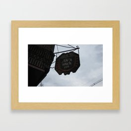 Ale 'n 'Wich Framed Art Print