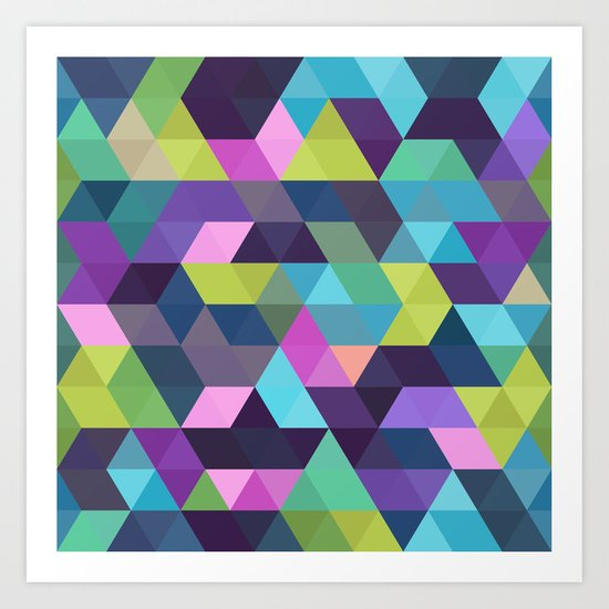 Colorful Geometric Background III Art Print