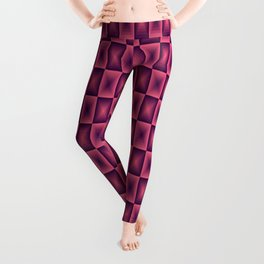 Pink square pattern 70's disco style Leggings