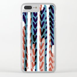 Painted Chevrons - Sarah Bagshaw Clear iPhone Case