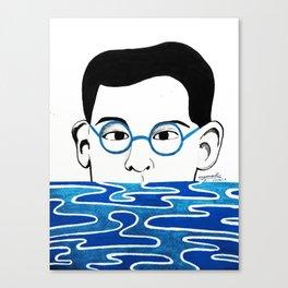 Alfredo's portrait Canvas Print