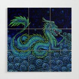 Chinese Azure Dragon Wood Wall Art