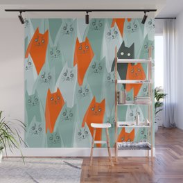 Funny cats Wall Mural