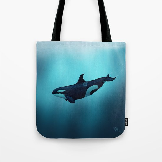 Lost in Serenity ~ Orca ~ Killer Whale Art by Amber Marine Tote Bag