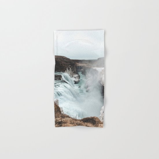 Gullfoss - Landscape Photography Hand & Bath Towel