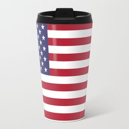 USA flag - Hi Def Authentic color & scale image Travel Mug