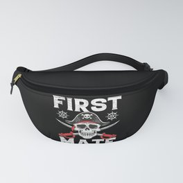 First Mate Pirate Jolly Roger Skull and Crossbones Fanny Pack