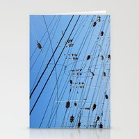 washington dc Stationery Cards featuring Crossed wires, Washington DC by David Ansley