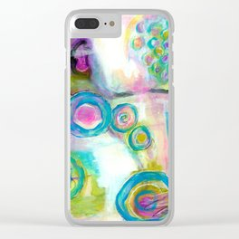 Driven To Distraction, Abstract Landscape Art Clear iPhone Case