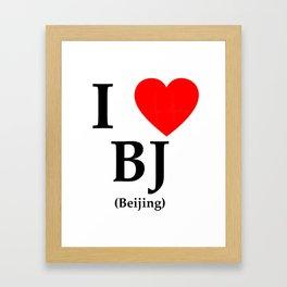 I love BJ - The cult shirt black Framed Art Print