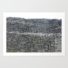 Dry stone wall Art Print