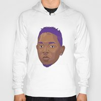 kendrick lamar Hoodies featuring Purple Kendrick by David Savelberg
