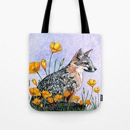 Channel Island Fox (Blue Sky) Tote Bag