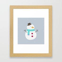 Snow winter man Framed Art Print