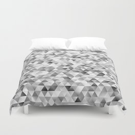 Grey triangle pattern Duvet Cover