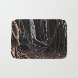 Spooky Winter Trees Bath Mat