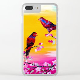 Lorikeets Clear iPhone Case