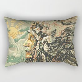 native american portrait Rectangular Pillow