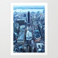 manhattan Art Prints featuring Manhattan by Joanna Dickinson