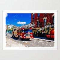 Toronto Firetruck Art Print