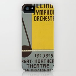 Vintage poster - Illinois Symphony Orchestra iPhone Case