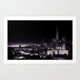 The View from Nob Hill - B&W Art Print