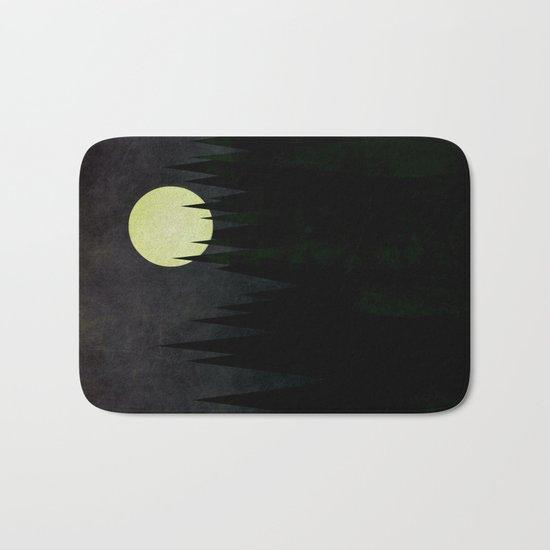 A Moonlit Forest Bath Mat
