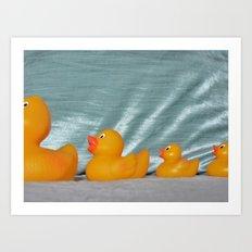Swimming Ducks Art Print