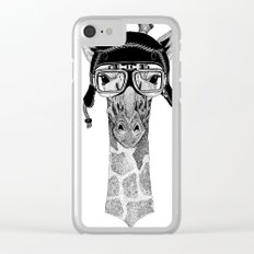 Giraffe Helmet Clear iPhone Case