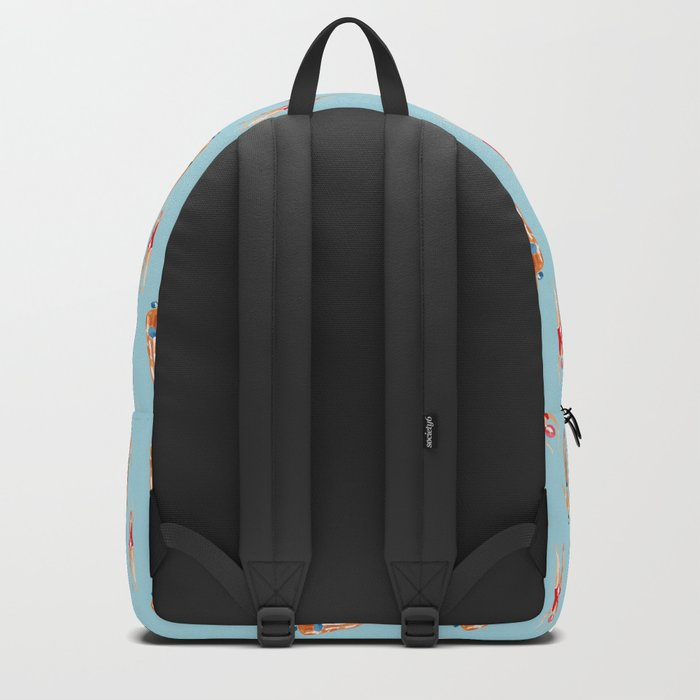 swimmer pattern Backpack