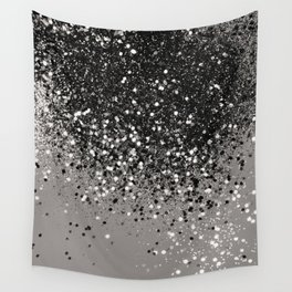 Silver Gray Glitter #1 #shiny #decor #art #society6 Wall Tapestry