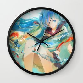 Hatsune Miku Bottle Design Vocaloid Wall Clock