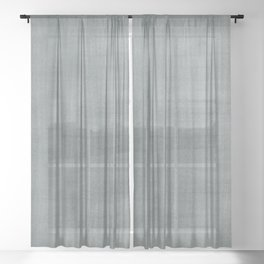 PPG Paint Night Watch Pewter Green Dry Brush Strokes Texture Pattern Sheer Curtain