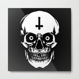 Most Ugly Satanic Skull Metal Print