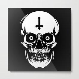 Most Ugly Satanic Skull Metal Print