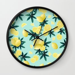 Lemon Twist Vibes #1 #tropical #fruit #decor #art #society6 Wall Clock