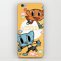 gumball iPhone & iPod Skins featuring GUMBALL by Suyeda