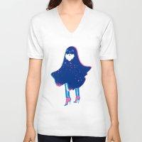 wiz khalifa V-neck T-shirts featuring The Wiz by Ian O'Phelan