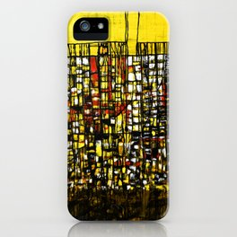 Abstract Modern Art City Map Pattern iPhone Case