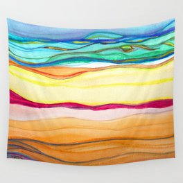gradient stripes Wall Tapestry