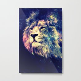 Galaxy Lion : Deep Pastels Metal Print