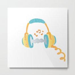 watercolor headphone Metal Print