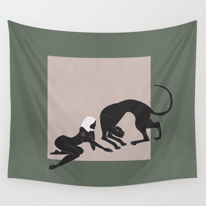 Panther Woman Wall Tapestry