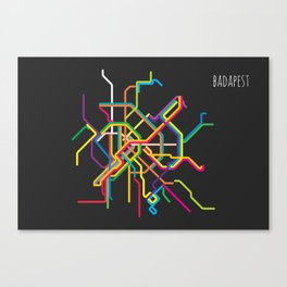 budapest metro map Canvas Print
