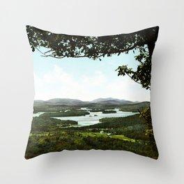 Lower Saranac Lake, Adirondack Mountains, New York, 1902 Throw Pillow
