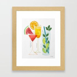 Summer Cocktail Trio Framed Art Print