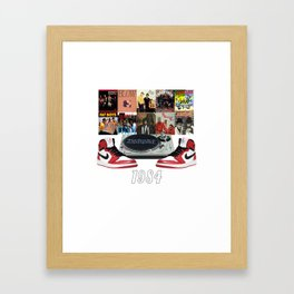 1984 Hip Hop & Jordans Framed Art Print