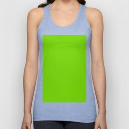 Solid Green Unisex Tank Top