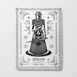 Legend of Zelda Princess Zelda Line Work  Metal Print